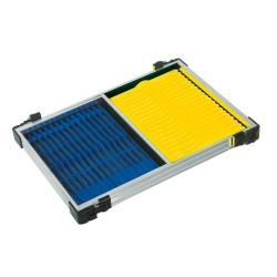 Casier 30 F2 + 14 Plioirs Bleus 26 x 1,3cm + 20 Plioirs Jaunes 19 x 1,3cm - RIVE