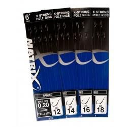 Hameçons Montés 15cm X-Strong Pole Rigs - Matrix