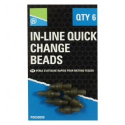 Attaches In-Line Quick Change Beads x6 - Preston Innovations