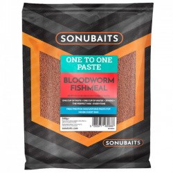 Pate One to One Bloodworm Fishmeal 500g - Sonubaits