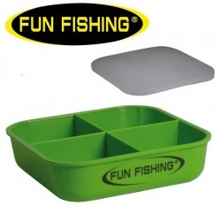 Boite Esches 0,5L 4 Compartiments - Fun Fishing