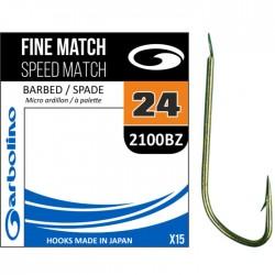 Hameçon Fine Speed Match 2100BZ x15 - Garbolino