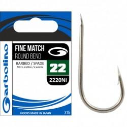 Hameçon Fine Match Round 2220NI x15 - Garbolino