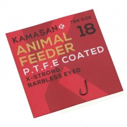 Hameçon Animal Feeder Barbless Eyed x10 - Kamasan
