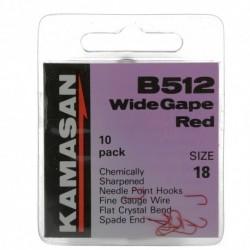 Hameçon B512 Red x10 - Kamasan