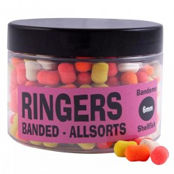 Mix Bandems 6mm Shellfish Allsorts - Ringers