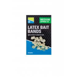 Latex Bait Bands 50 Pièces - Preston Innovations