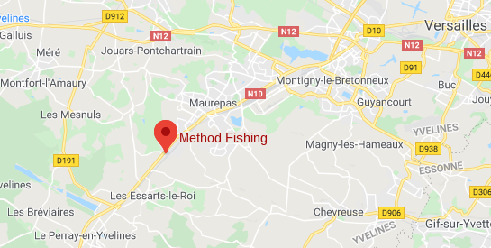 localité du magasin method fishing